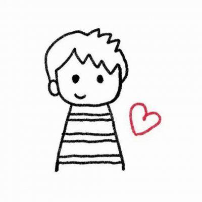 微信头像简笔画情侣高清好看的简笔画情侣头像分开的