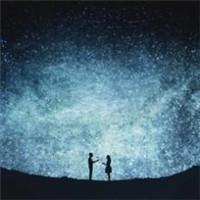 星空情侣头像好看梦幻的浪漫系星空情侣头像图片