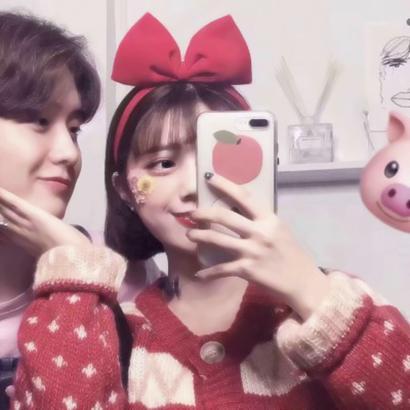 情侣头像潮流韩版一对高清新潮的情侣头像真人一对两张图片