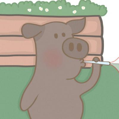 情侣头像卡通呆萌动物高清一对两张卡通小动物头像可爱萌图片