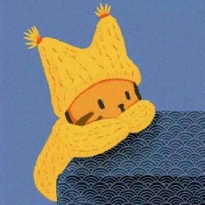 高清可爱戴帽子卡通情头图片倾慕
