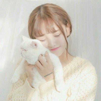 qq头像猫咪女生漂亮好看带猫抱猫可爱女生头像图片