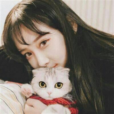 带猫的头像女高清好看带猫咪的女生头像图片