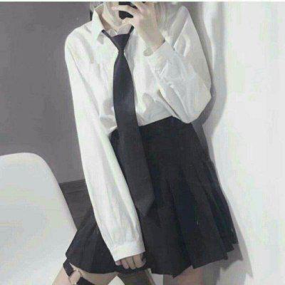 身体部位制服头像女高清穿学生制服领带女头像图片