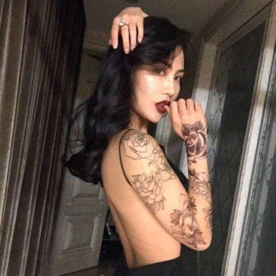 qq头像女生社会姐纹身高清霸气的社会女生头像带纹身图片