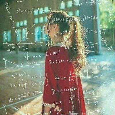 公式女头背影星座高清好看的女生背影头像带数学公式
