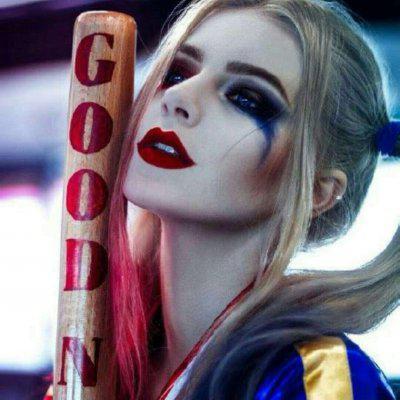小丑女头像真人高清超酷的小丑女头像哈利奎因真人图片
