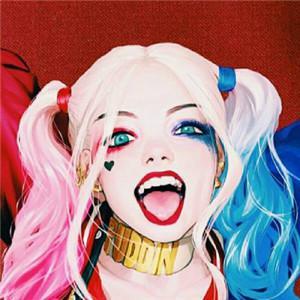 自杀小队小丑qq头像图片高清好看的x特遣小队小丑片头像
