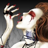 qq黑化头像女惊悚恐怖的动漫qq头像黑化女生图片