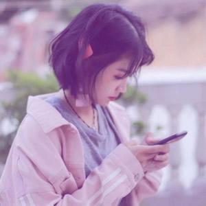 微信头像女生短发高清好看的女生头像短发空气刘海图片