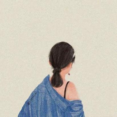 qq头像女生动漫背影高清唯美的女生手绘动漫背影头像图片