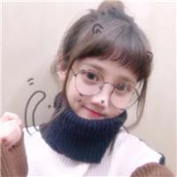 戴眼镜可爱呆萌女生头像图片