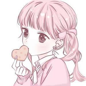 粉色系动漫少女心头像高清可爱的粉色系二次元少女头像图片