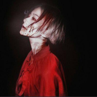 黑暗女生头像真人高清另类恐怖的霸道黑暗的女生头像图片