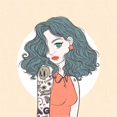 动漫头像女纹身高清霸气的动漫纹身女头像图片