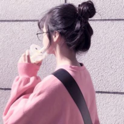 微信头像丸子头背影高清好看的韩范丸子头女生背影头像图片