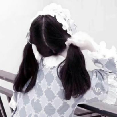 双马尾女生头像背影高清可爱的萝莉双马尾背影头像图片