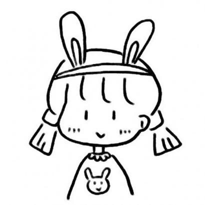 网红小女孩简笔画头像高清超萌的抖音可爱简笔画小女孩图片