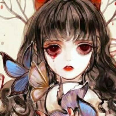 丧系萝莉头像动漫图片高清有点恐怖的丧系二次元头像