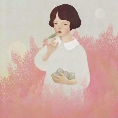 简约文艺的手绘头像女生图片高清好看的清新文艺手绘女生头像