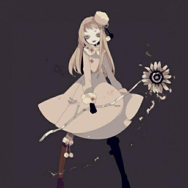 动漫女生头像黑暗系高清可怕邪恶恐怖的女生头像图片