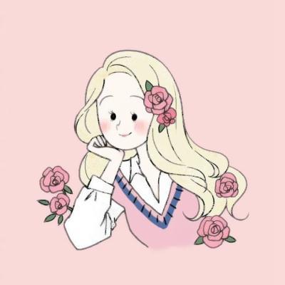 女生头像简单干净卡通高清好看的简单可爱卡通少女头像图片