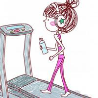 卡通励志女孩QQ头像,一个人也要拼命努力