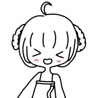 简笔画女孩网红头像高清超萌的抖音简笔画女孩图片可爱头像