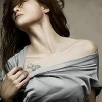 纹身头像女生个性头像,好看超有个性的纹身女生头像图片精选