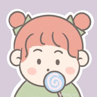 小女孩头像卡通高清超萌胖乎乎的卡通可爱小女孩头像图片