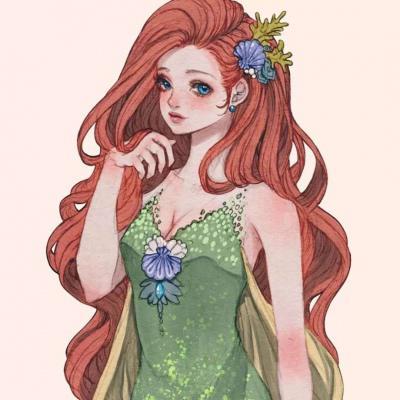 迪士尼公主头像复古手绘高清超仙的迪士尼公主动漫复古头像图片