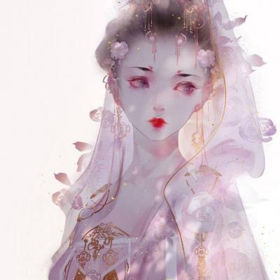 古风手绘女生头像唯美高清好看的手绘古风动漫女头图片