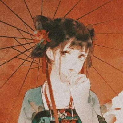 红滤镜古风头像高清红色神仙滤镜颜值的古风头像图片