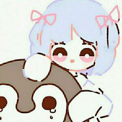 高清手绘卡通简单可爱女孩头像图片同一个系列的可爱女生