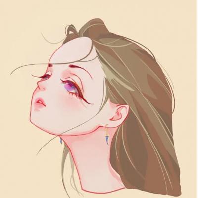 动漫女生清新手绘头像,高清清纯可爱少女系列动漫手绘头像图片