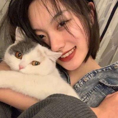 怀里有猫的女生头像,高清唯美可爱女孩抱猫咪图片头像