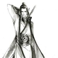 水墨黑白古风男头像古风古韵的中国水墨画帅男头像图片