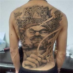 背部纹身图案男生头像高清好看的纹身图片男生霸气背部头像