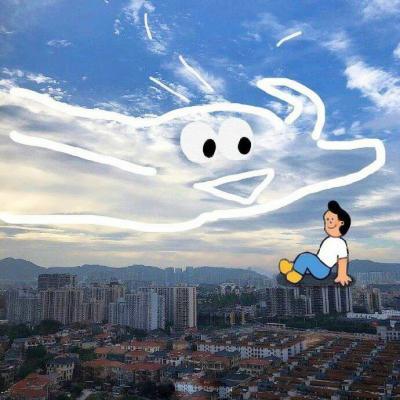 创意天空头像真实天空中的创意风景画图片头像