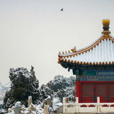 高清好看的故宫雪景唯美图片头像