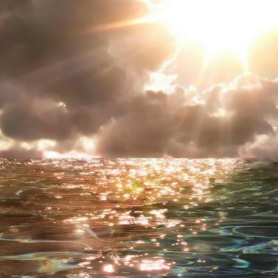 微信唯美天空头像光和影映衬的天空风景头像
