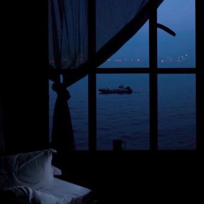 黑蓝色的微信风景头像图片大全孤独安静美好