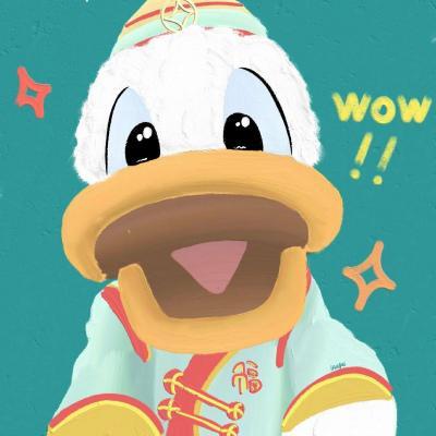 可爱唐老鸭手绘头像,高清超萌可爱的唐老鸭图片头像