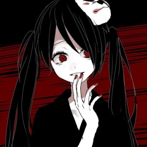 二次元病娇血腥头像高清好看的男女血腥黑暗系二次元图片头像