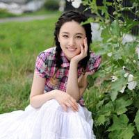 90后美女刘筱筱清新头像图片,校园写真精选图片