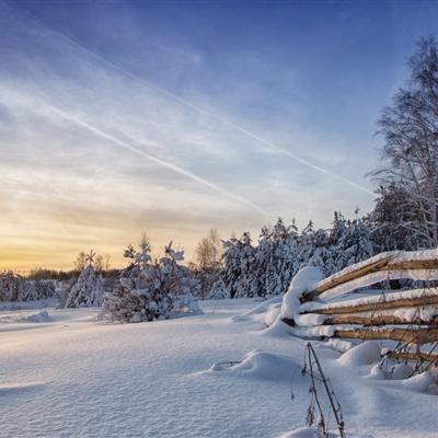 唯美雪景头像,好看的冬季雪景风景图片