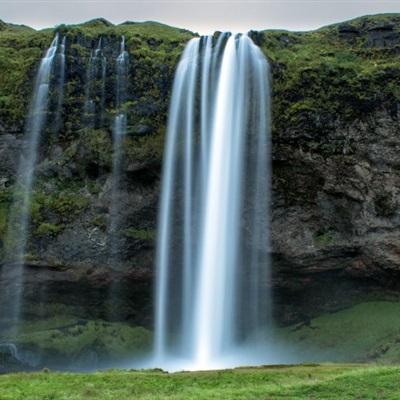 最美瀑布头像 冰岛塞里雅兰瀑布风景图片